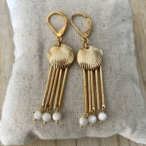 Boucles d'oreille Coquillage Blanche